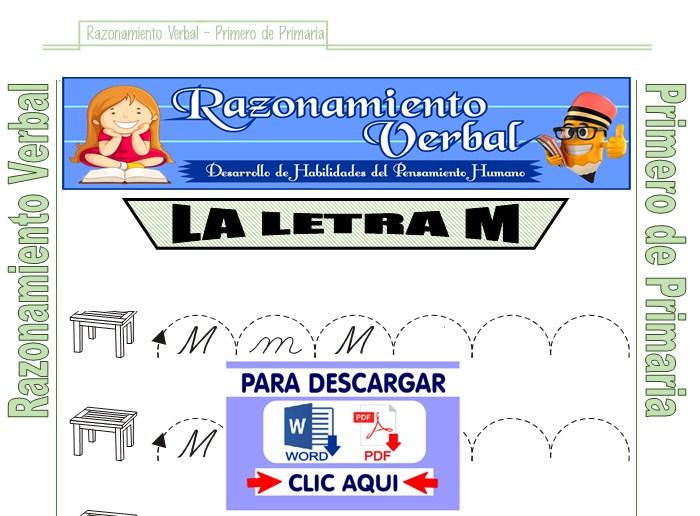 ficha de serie de letras para primero de primaria